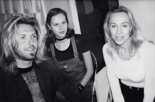 Режиссер Юрий Грымов, модель Наталья Семанова и Татьяна Кольцова