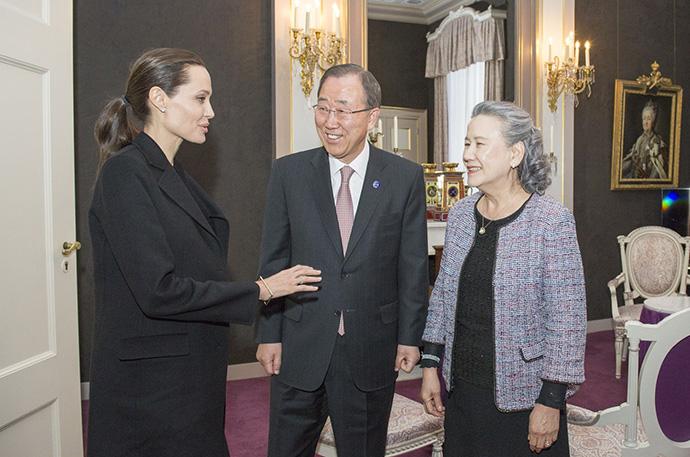Анджелина Джоли и Пан Ги Мун