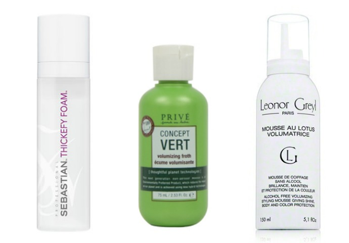 Sebastian Professional Thickefy Foam; Prive Concept Vert Volumizing Froth; Leonor Greyl Mousse Au Lotus Volumatrice
