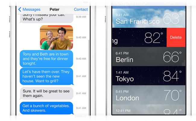 iPhone погода