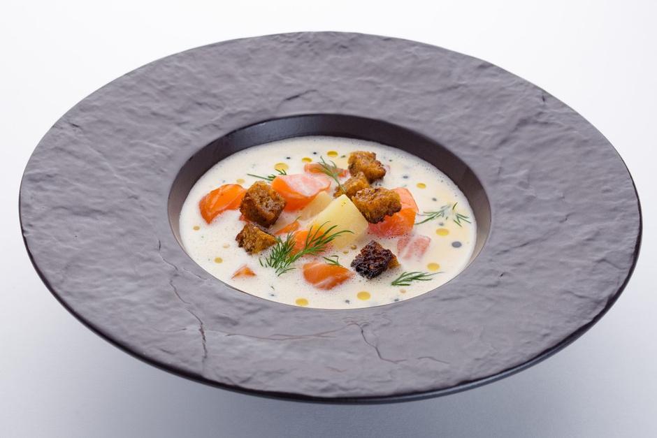 Cливочный суп с лососем