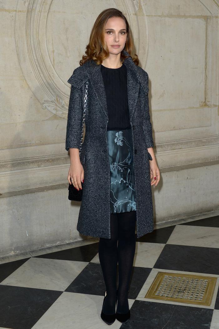 Натали Портман на показе Christian Dior