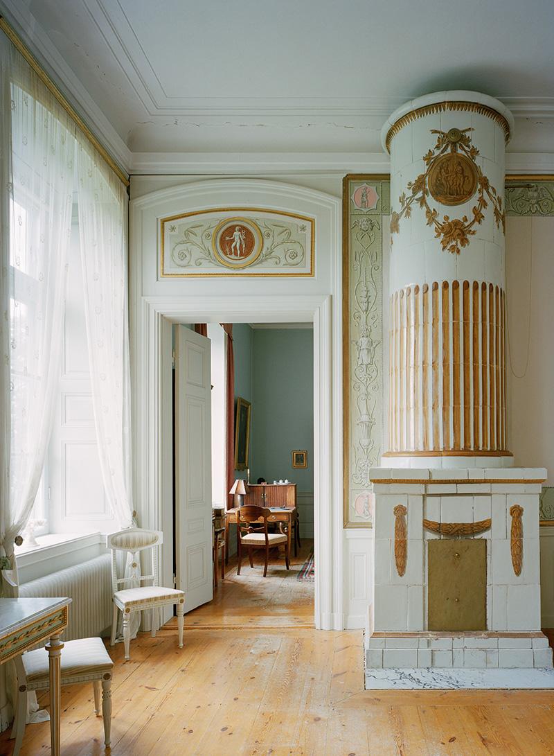 Интерьер замка Хеби в Сёдерманланде. Архитектор Эрик Палмстедт, 1780 год.