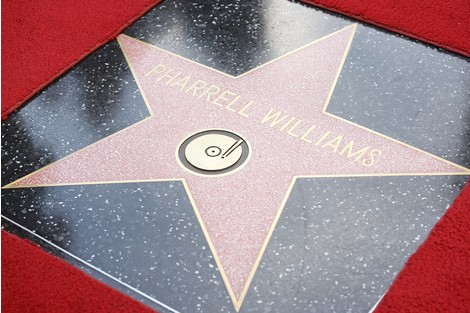 Фаррелл Уильямс получил звезду на Аллее славы в Голливуде