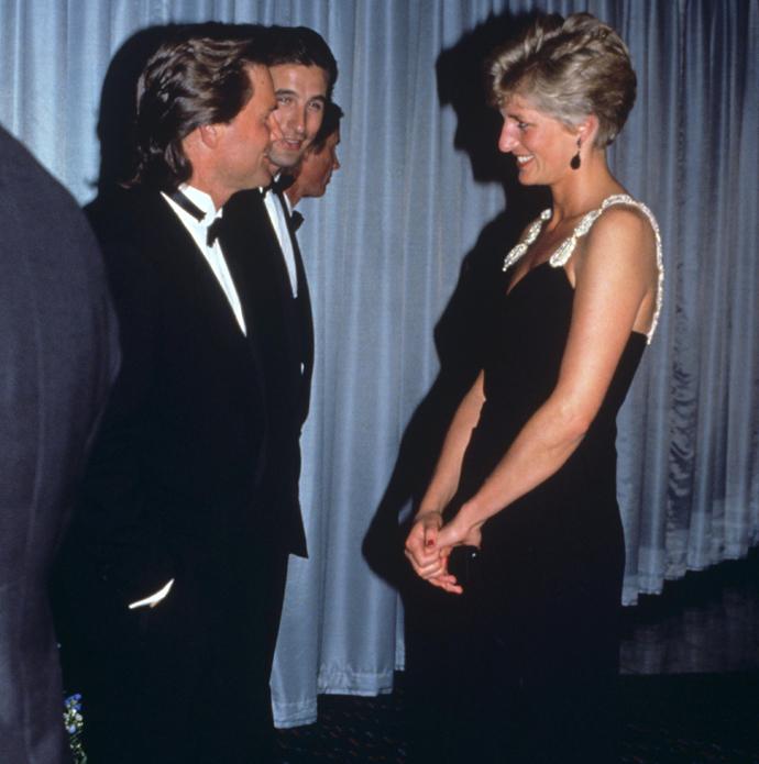 Курт Рассел и принцесса Диана на премьере фильма «Обратная тяга»