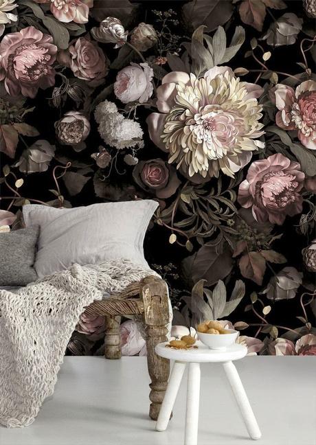Обои Dark Floral, Ellie Cashman