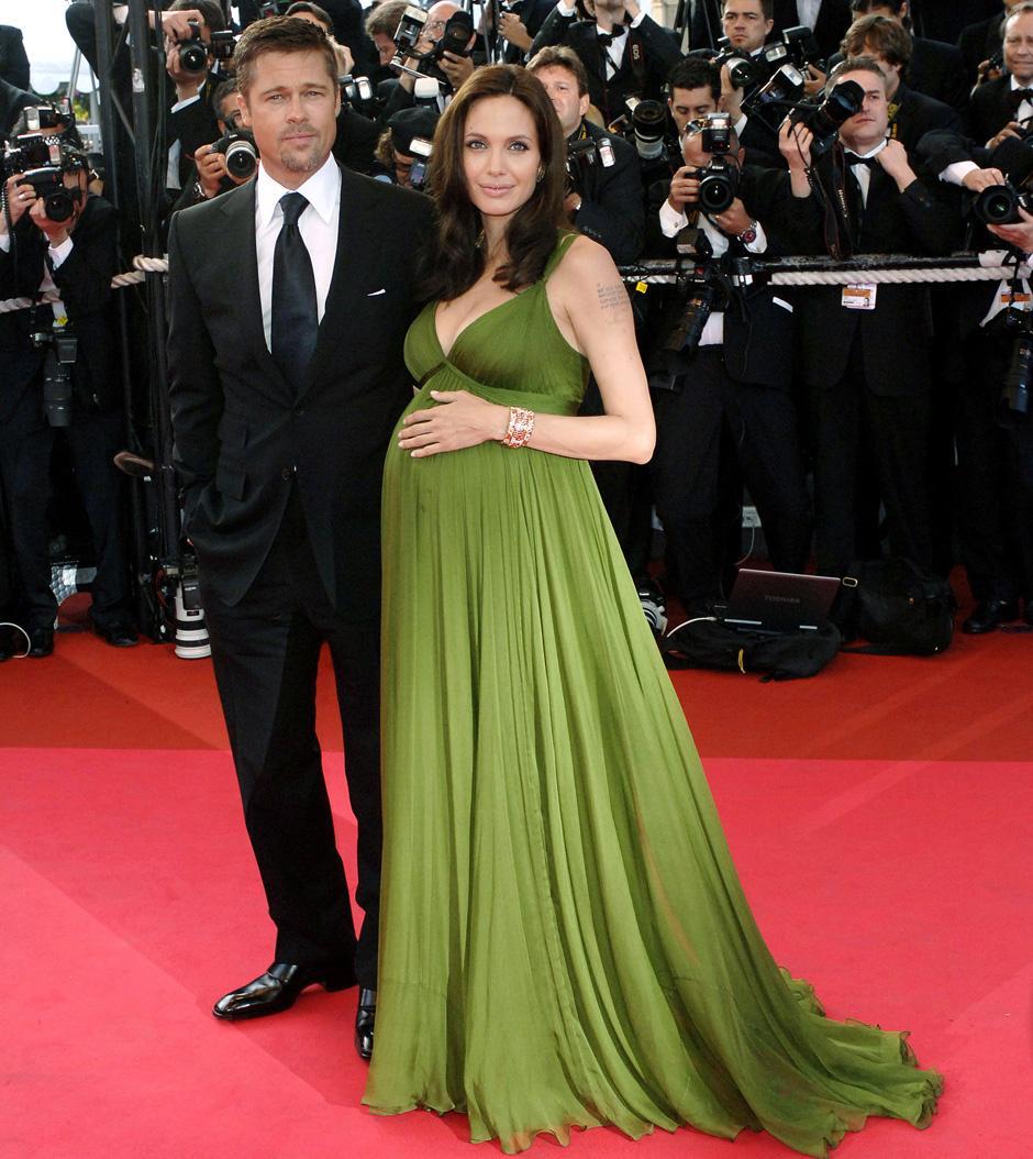 Брэд Питт и Анджелина Джоли беременная Канны