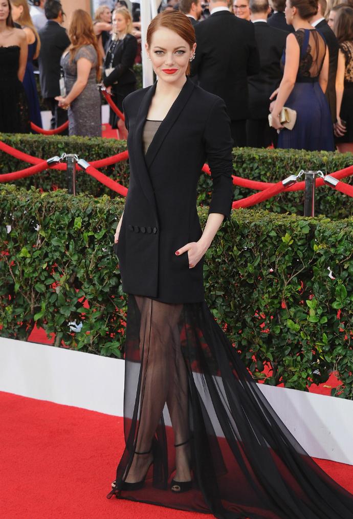 Эмма Стоун в Dior Couture на церемонии SAG Awards