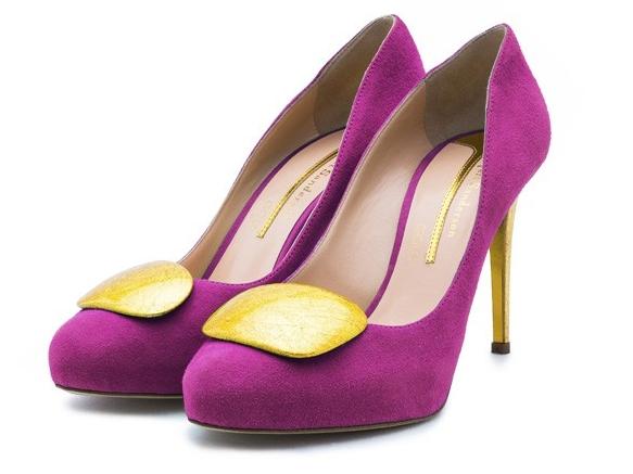 Яркие туфли на платформе и каблуке