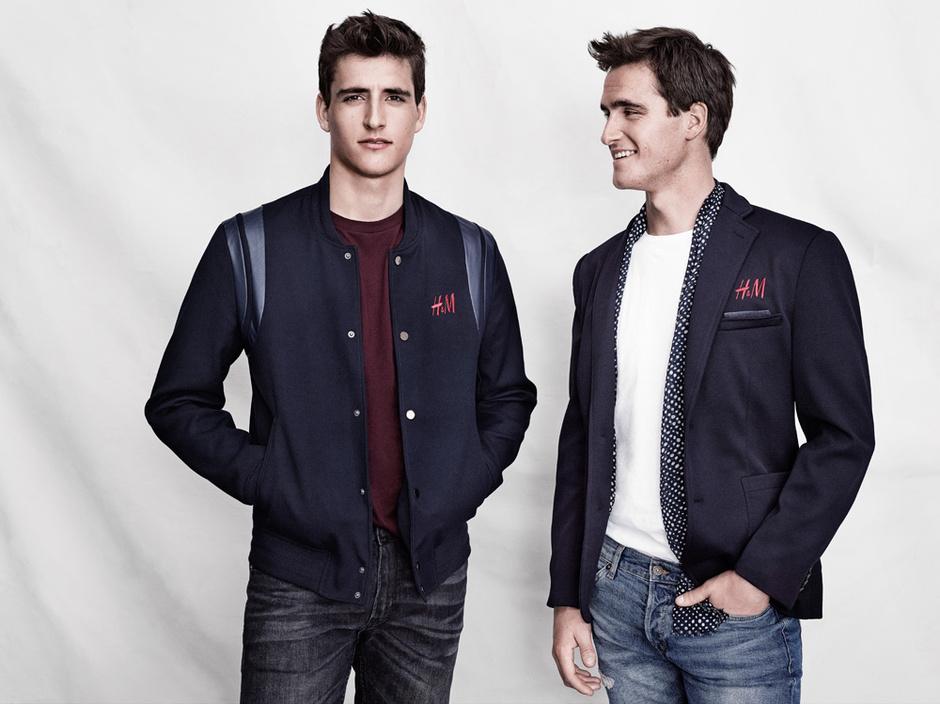 Никола и Оливье Филиппаертс в одежде от H&M
