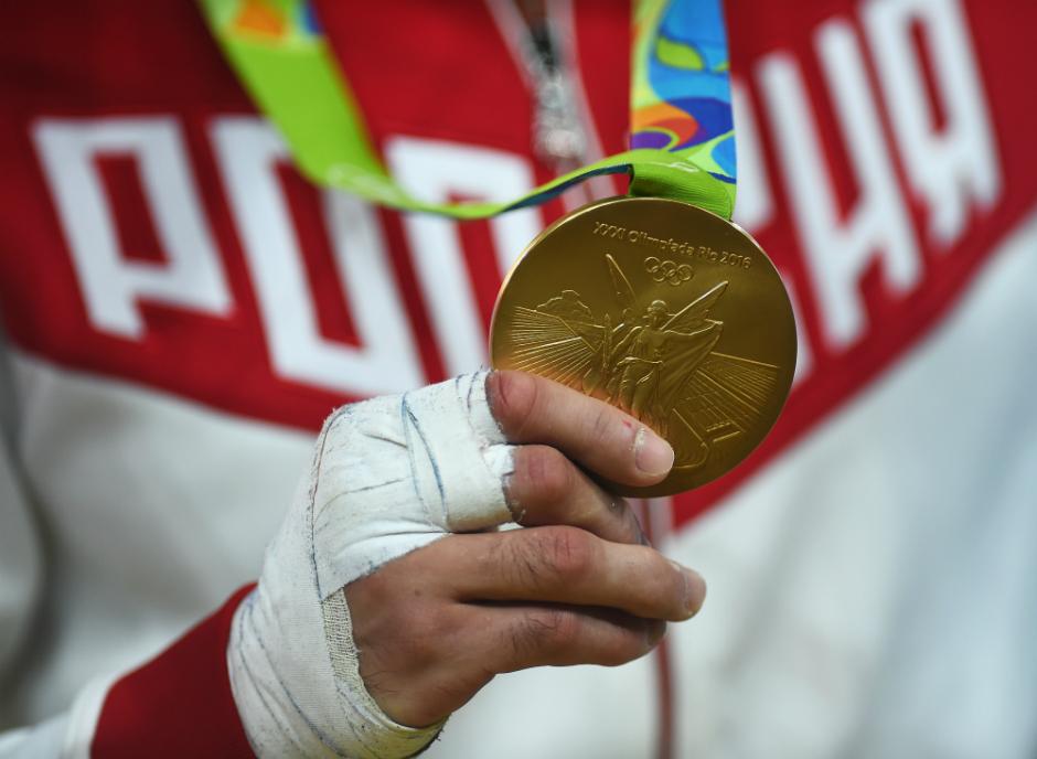 Золотая медаль олимпийского чемпиона Беслана Мудранова