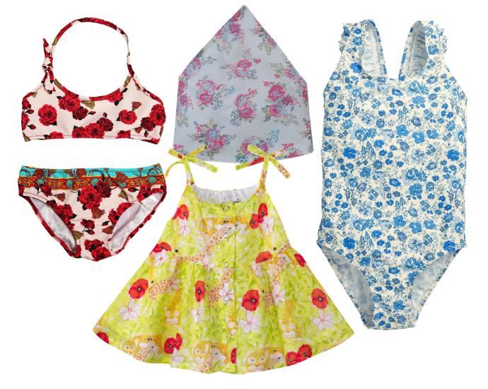 Выбор ELLE : купальник Dolce&Gabbana, бандана Benetton, купальник Next, ромпер Kenzo kids