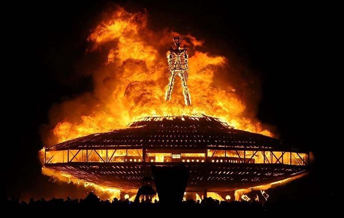 Burning Man finale