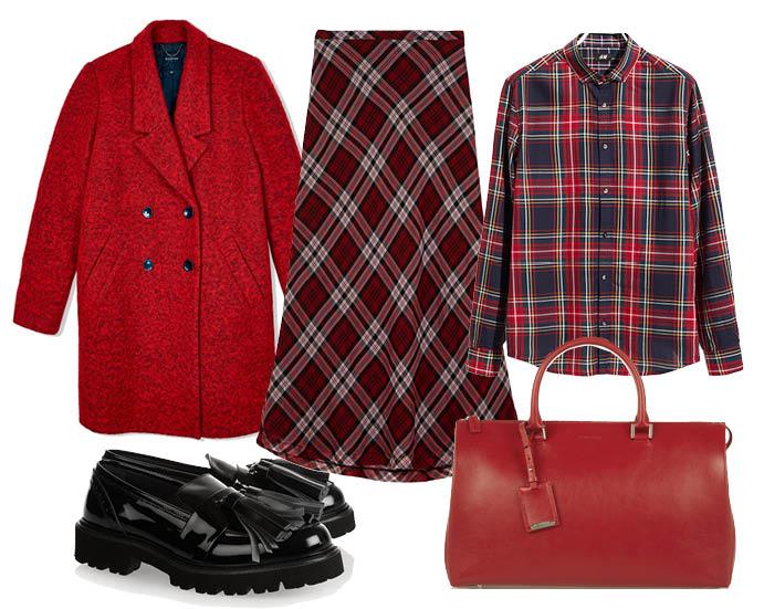 Выбор ELLE: рубашка H&M, пальто Reserved, броги MSGM, сумка Jil Sander