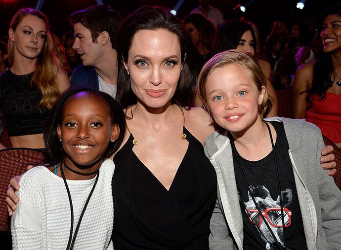 Анджелина Джоли с дочерьми Захарой и Шайло