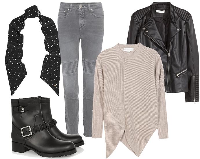 Выбор ELLE: жакет H&M, джинсы Closed, ботинки Valentino, свитер Stella McCartney