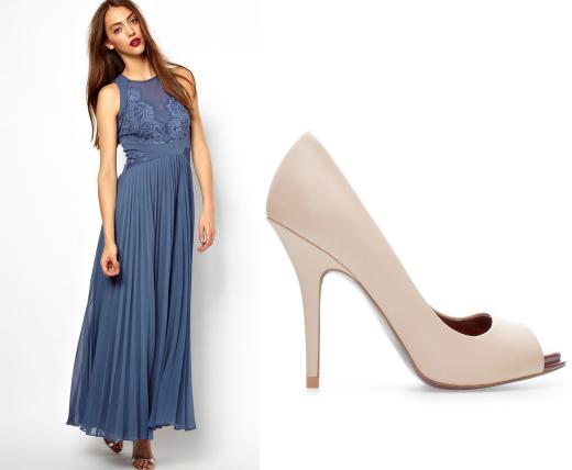 Платье Whistles, туфли Zara