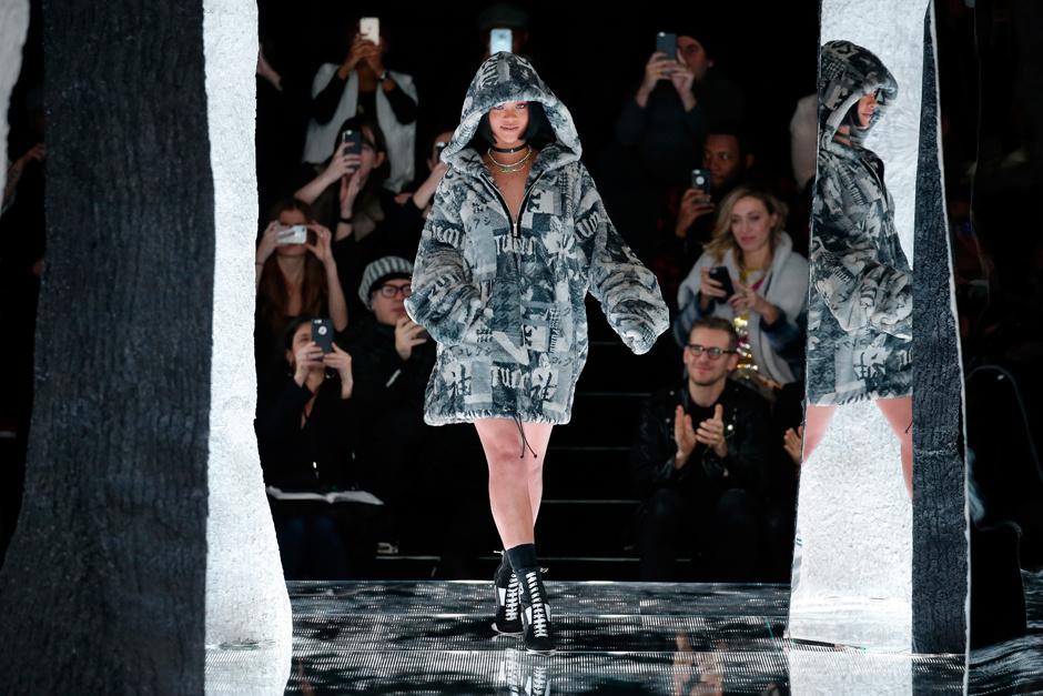 Рианна на показе Fenty Puma by Rihanna в Нью-Йорке