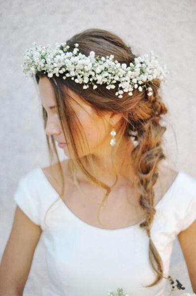 Как украсить цветами свадебную прическу? | галерея [1] фото [6]