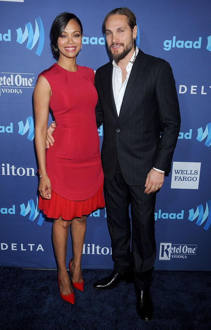 Зои Салдана с мужем: фото 2015