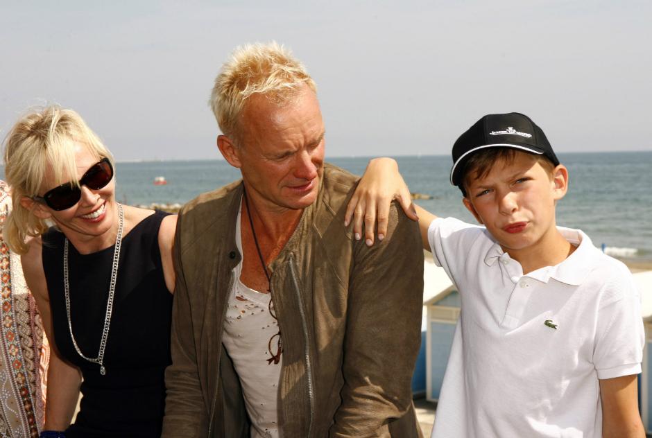 Стинг и Труди Стайлер с сыном