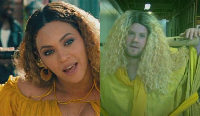 Комик Джеймс Корден снял пародийный ролик на видеоверсию альбома Бейонсе Lemonade