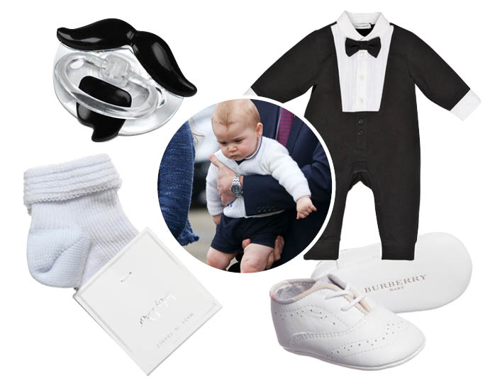 5 нарядов для маленького принца Георга