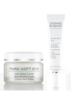 Pura Soft Q10 увлажняющий крем против морщин 24 часа - 1650 руб., Крем для области вокруг глаз - 1340 руб.