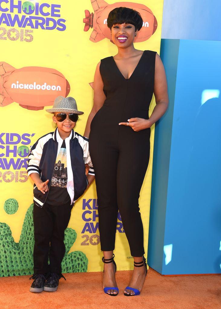 Дженнифер Хадсон с сыном Дэвидом