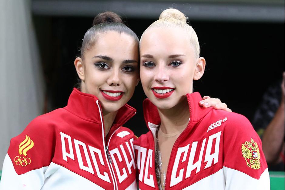 Олимпийские чемпионки по художественной гимнастике Маргарита Мамун и Яна Кудрявцева