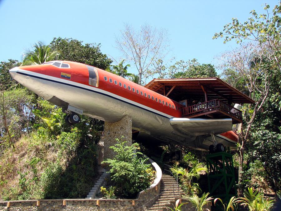 Отель-«самолет» Costa Verde в Коста-Рике