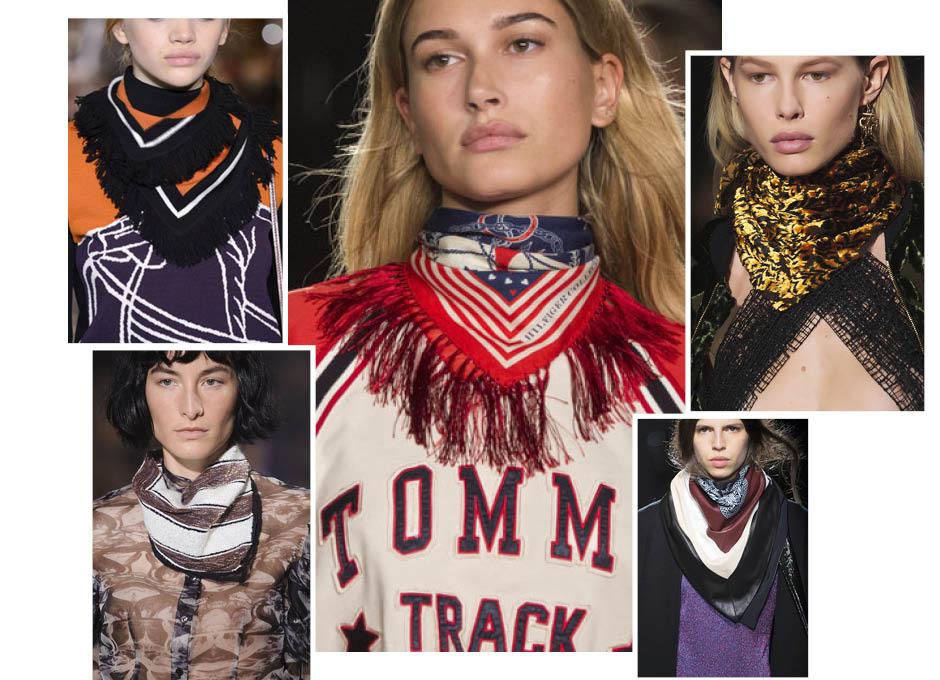 Модные шарфы осень 2016 в ковбойском стиле