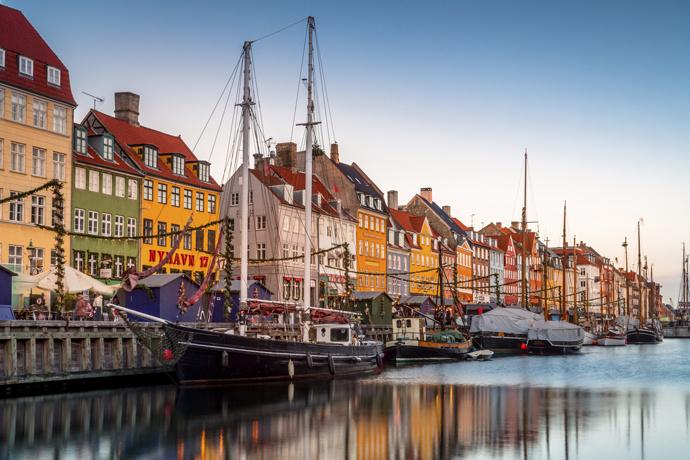 вид на набережную Нюхавн Копенгаген