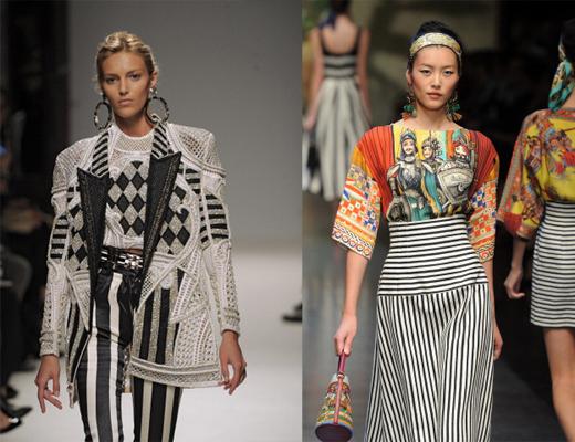 Balmain, Dolce & Gabbana