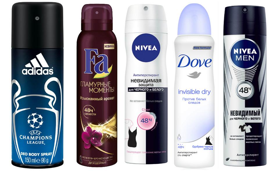 Дезодоранты для мужчин и женщин