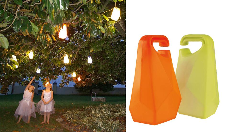 Садовые светильники Jerri, пластик, их можно развесить на дереве, как гирлянду. Casamania, www.casamania.it