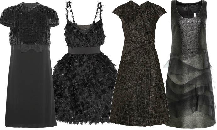 Маленькое черное платье с декором