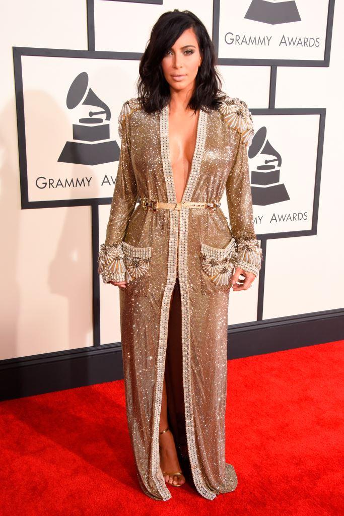 Ким Кардашьян Grammy 2015 грэмми 2015