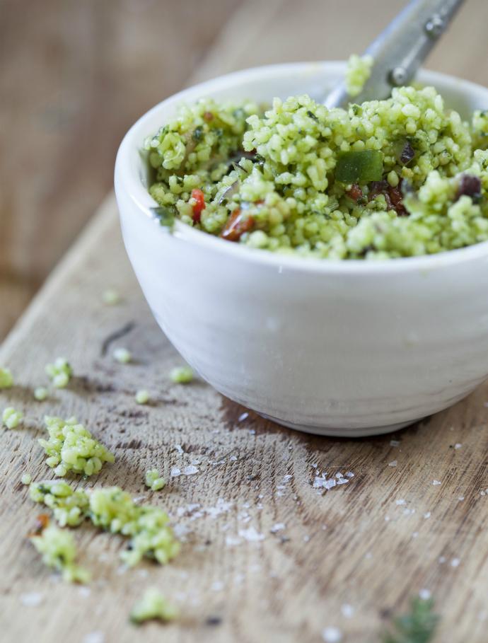 Салат: весенний табуле с зеленой ариссой