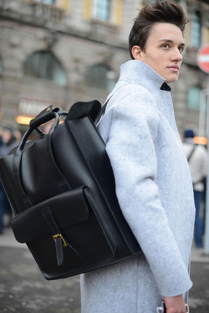 Неделя мужской моды в Милане: street style