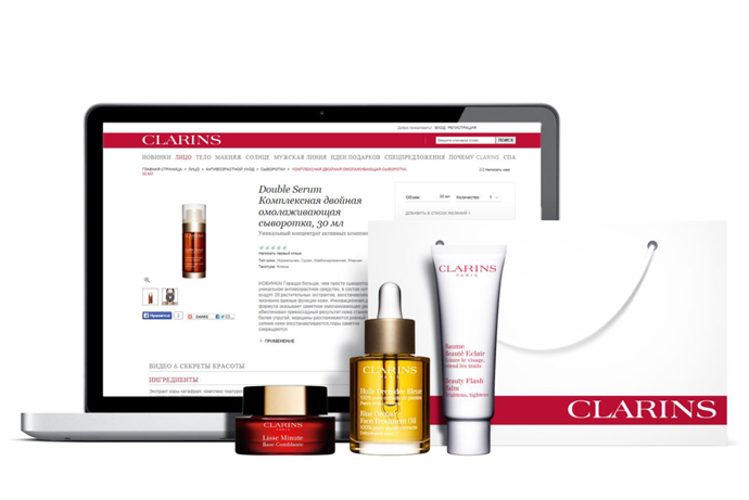 Clarins открыл официальный интернет-магазин своей продукции