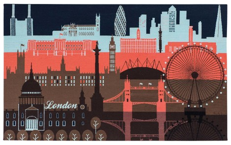 Настенный ковер London Skyline, дизайн Paul Smith, The Rug Company, салоны The Rug Company