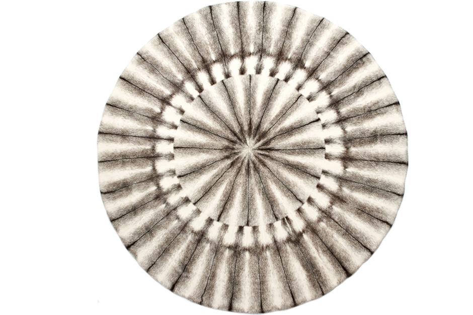 Плед из меха норки крестовка