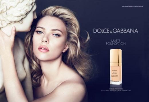 Скарлетт Йоханссон в рекламе нового тонального крема Dolce&Gabbana