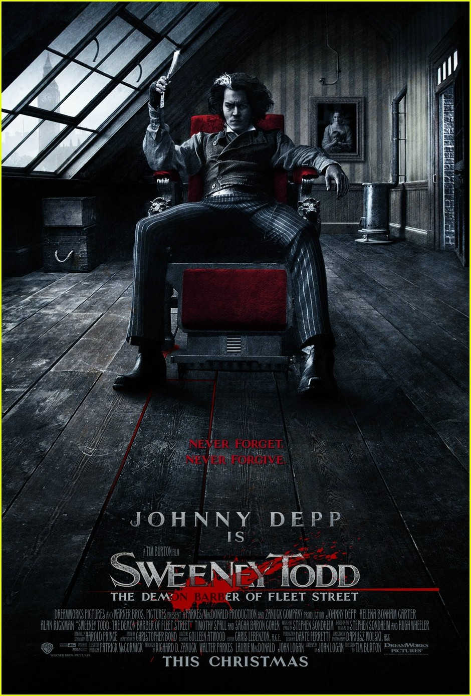 №7. «Суини Тодд, демон-парикмахер с Флит-стрит» (Sweeney Todd: The Demon Barber Of Fleet Street), 2007