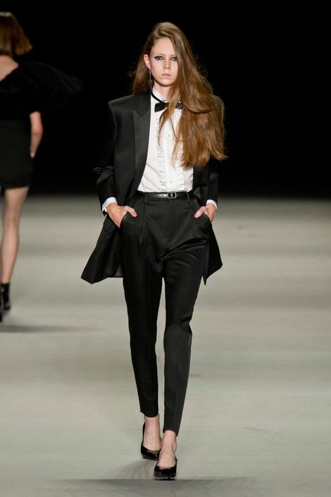 Saint Laurent на Неделе моды в Париже