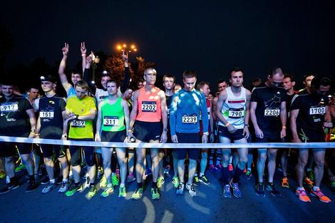 Проект «Ночной забег» в рамках Московского марафона
