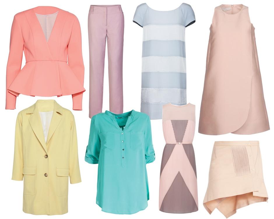 Жакет - ASOS; брюки - FiNN FLARE; платье - Sonia by Sonia Rykiel; платье - Stella McCartney; пальто - ASOS; блуза - Motivi; платье - BOSS; юбка - BCBG MaxAzria