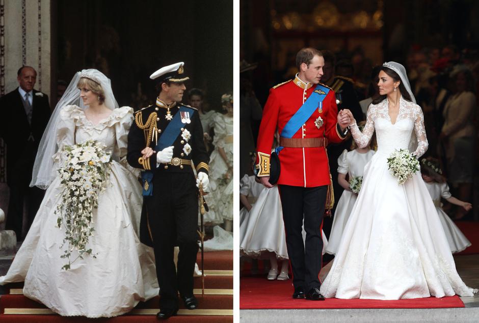 Свадьба принцессы Дианы и принца Чарльза; Свадьба Кейт Миддлтон и принца Уильяма