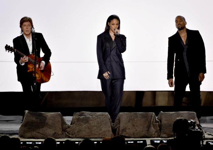 Пол Маккартни, Рианна и Канье Уэст фото победителей Грэмми 2015